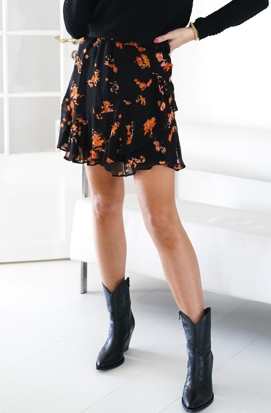ALIX THE LABEL - Orange Flower Skirt