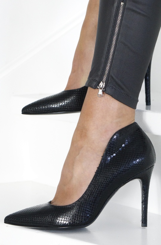 A PAIR - Pointed High Pump High Back
