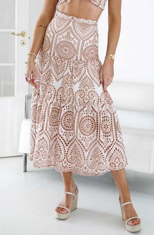 BARDOT - Broderie Maxi Skirt