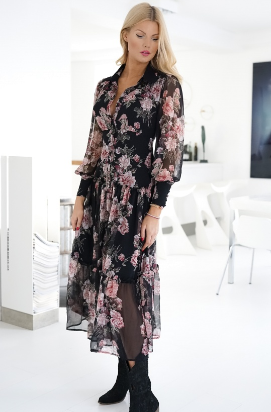 BARDOT - Floral Long Dress