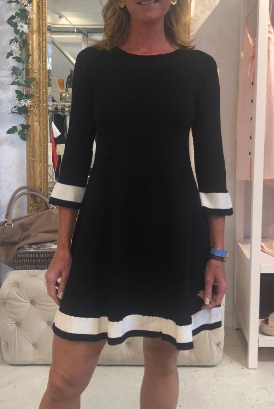 TWINSET - Black Dress with WhiteStripes