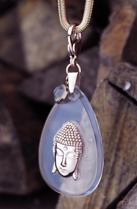 Buddha Necklace Rosé/Plexi