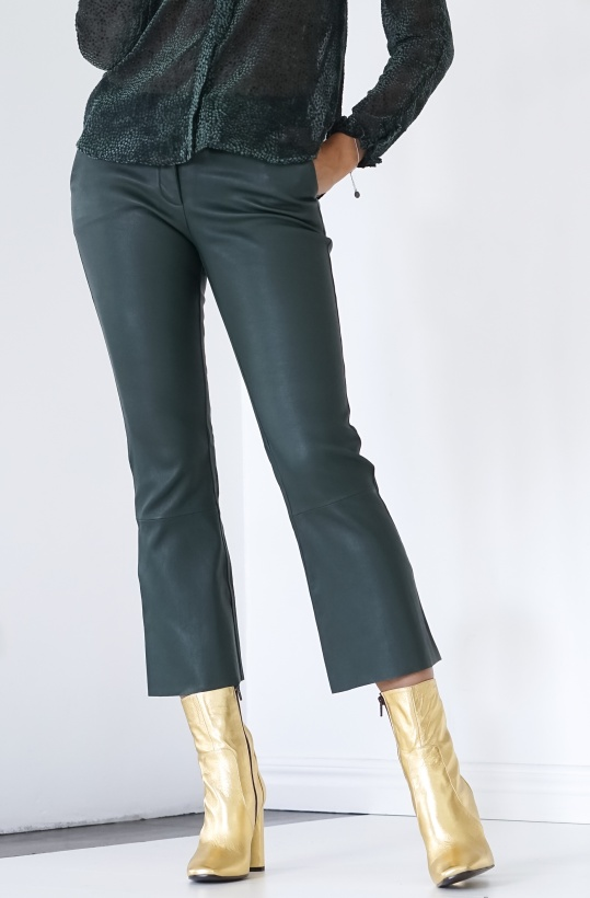 BUTTERFLY CPH - Leather Stretch pants 7/8