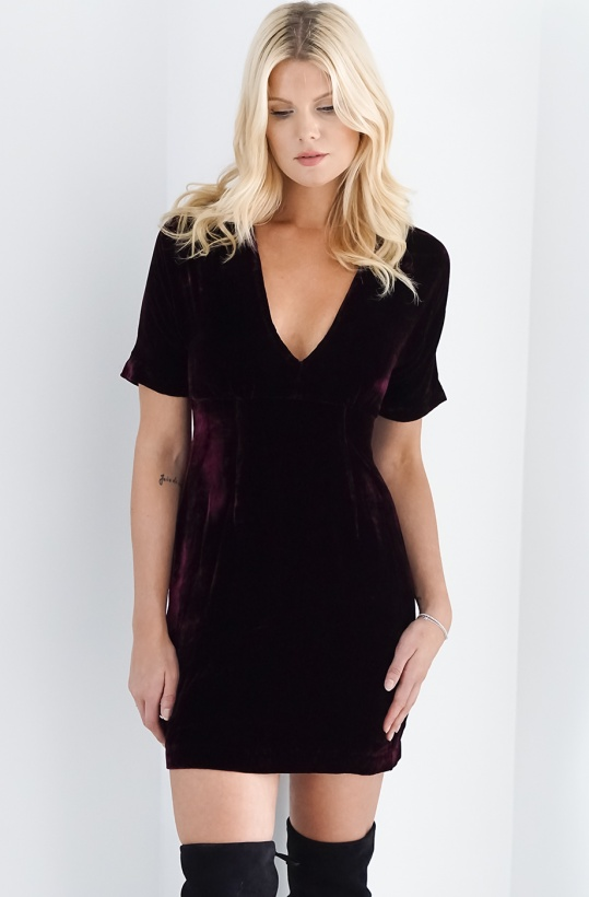 BY MALINA - Hedda Velvet Dress