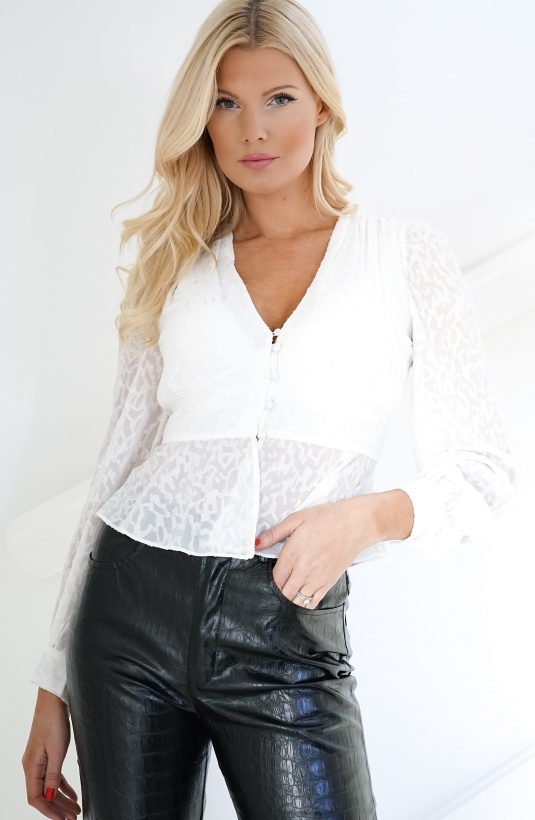 FRENCH CONNECTION - Brenna V-neck Top