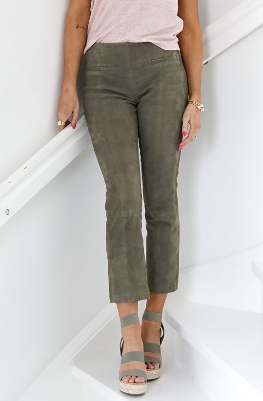 FINE CPH - Rosie Cropped Suede Pant
