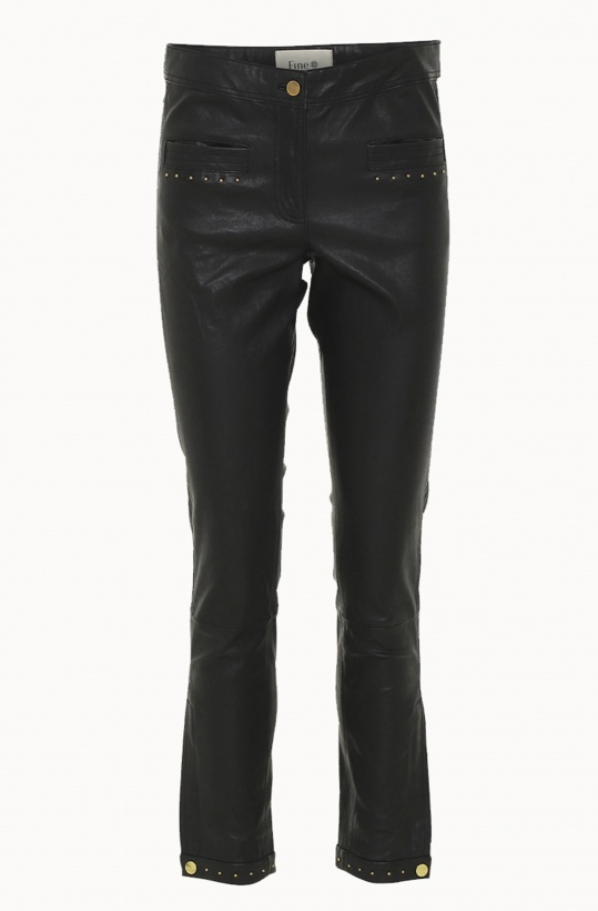 FINE COPENHAGEN - Ally Leather pant with Studs