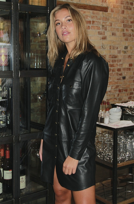 FINE COPENHAGEN - Diana Shirt Leather Dress