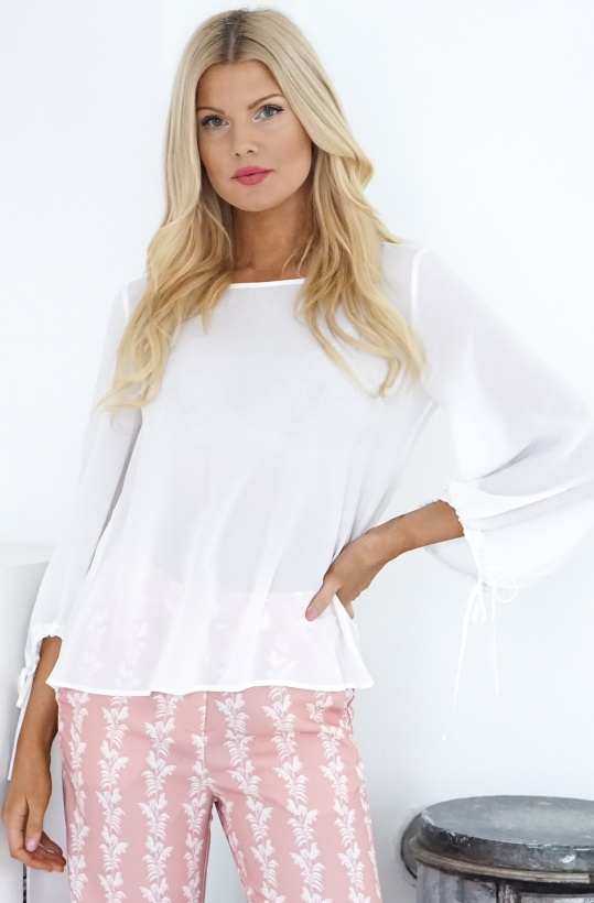FRENCH CONNECTION - blus med belle sleeve arm