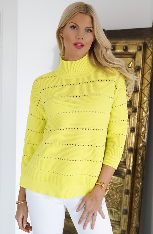 FRENCH CONNECTION - Liliya Knit Lace Hole Jumper