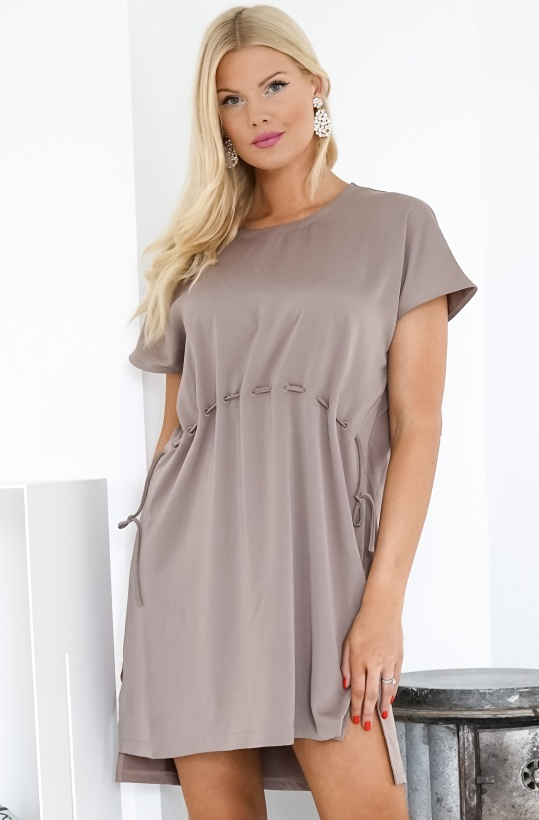 FRENCH CONNECTION - Tamina Satin Mix Dress