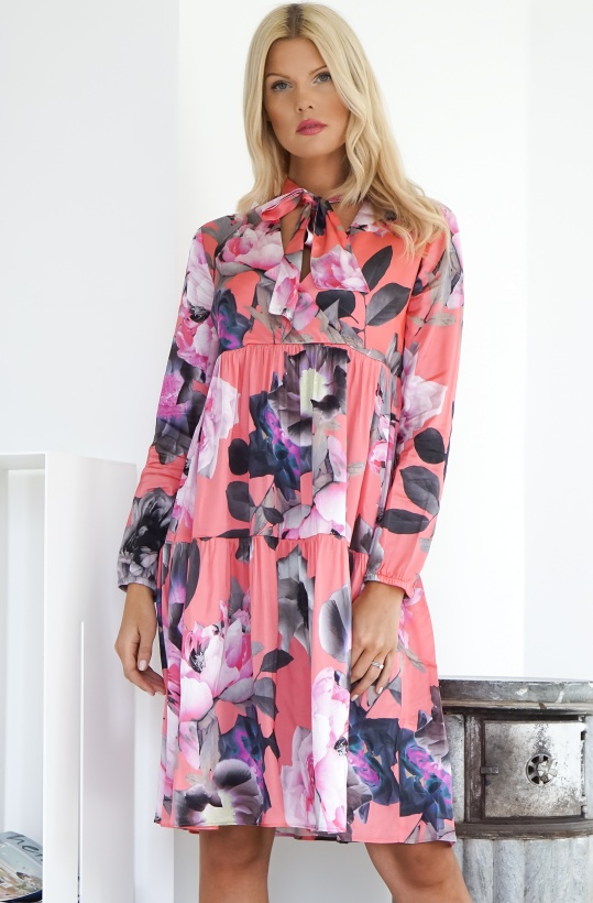 GUSTAV - Flower Print Frill Dress
