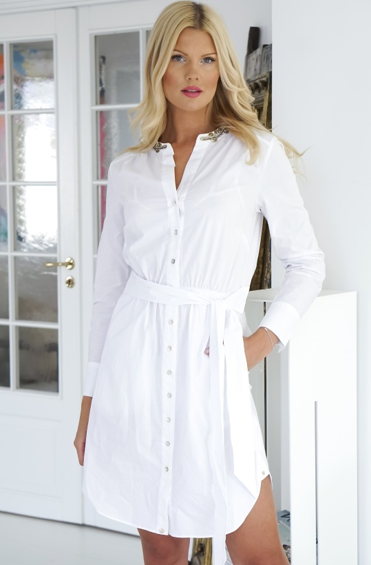 GUSTAV - White Shirt Dress