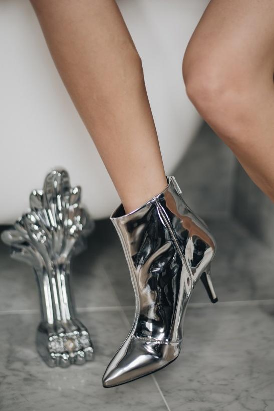 HENRY KOLE - Silver Zoe Boot