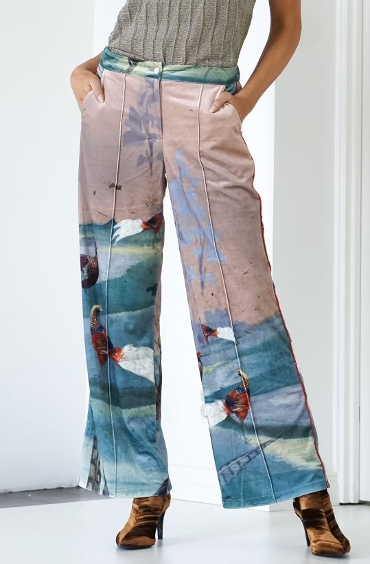 HUNKON - Phesant Velour Trousers