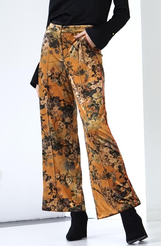 HUNKON - Blossom Velour Trousers