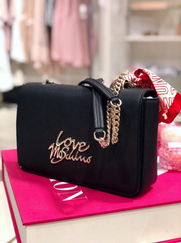 MOSCHINO -Bag with Scarf