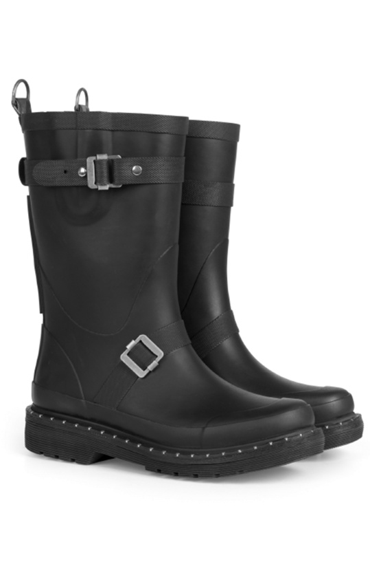 ILSE JACOBSEN - 3/4 Rubber boots Black with Studs