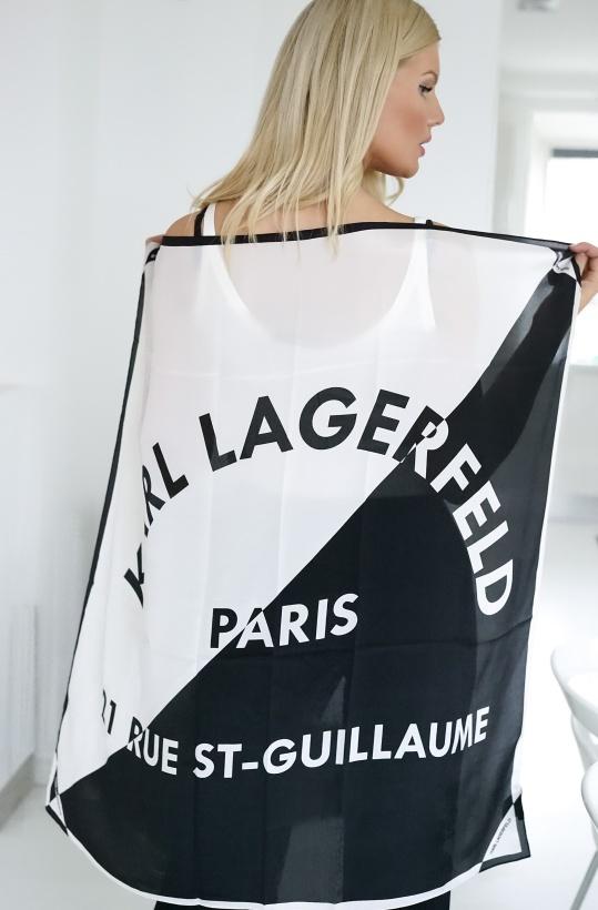 KARL LAGERFELD - Silk Scarf Logo