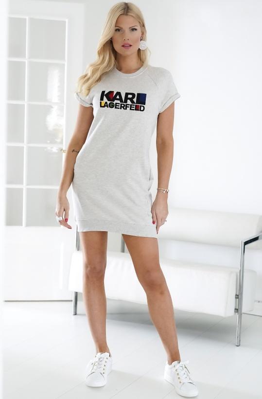 KARL LAGERFELD - Bauhaus Logo Short Sleeve Dress