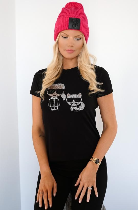 KARL LAGERFELD - Ikonik Rhinestone Tshirt