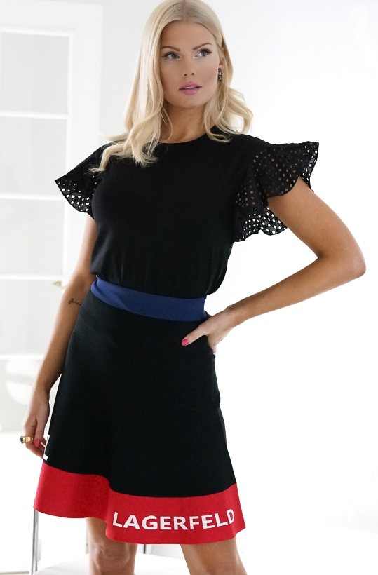 KARL LAGERFELD - Colour Block Skirt