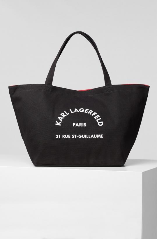 KARL LAGERFELD - Canvas Bag Logo Address