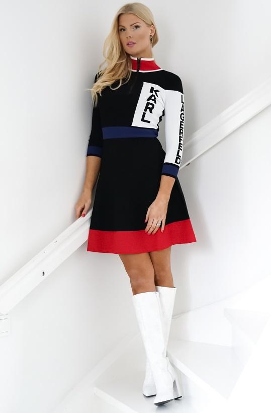 KARL LAGERFELD - Colour Block Logo Dress