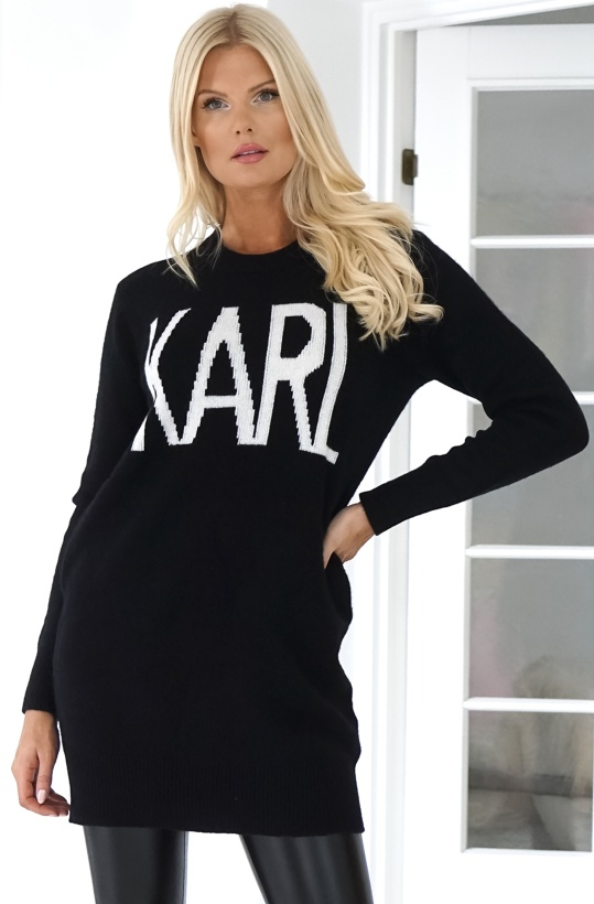KARL LAGERFELD - Knitted Sweater Karl Oui