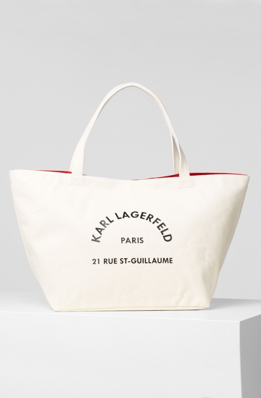 KARL LAGERFELD - Canvas Bag Logo Address