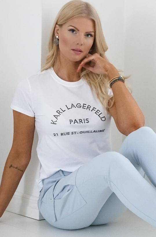 KARL LAGERFELD - Rue ST. Guillaume Rhinestone T-Shirt