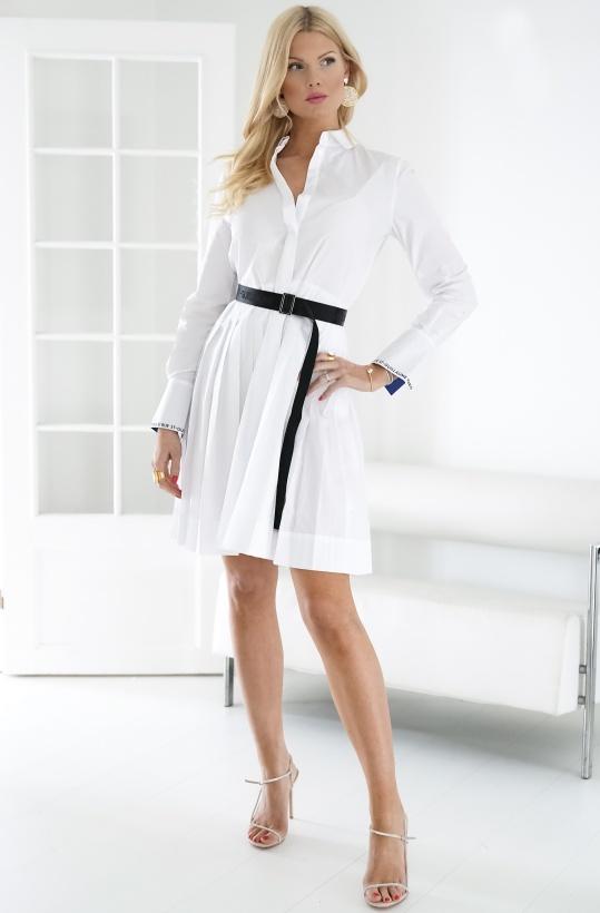 KARL LAGERFELD - Shirt Dress With Logo Belt