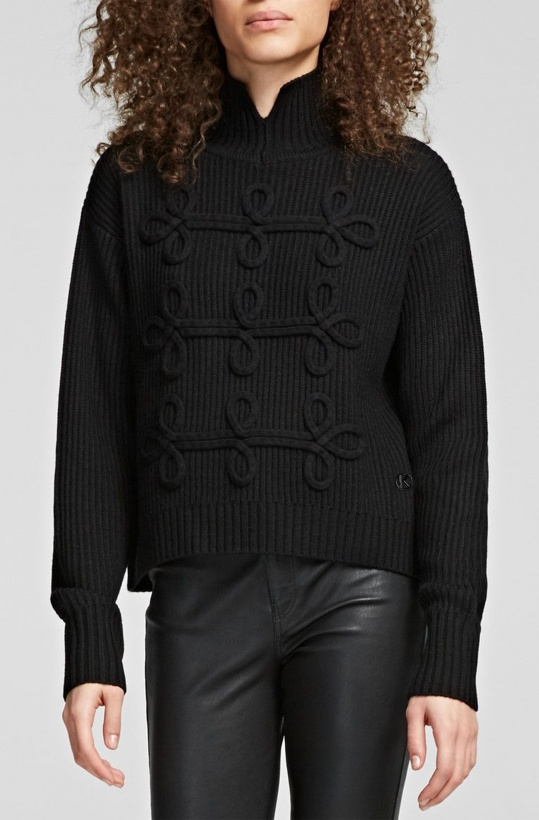 KARL LAGERFELD - Soutache Design Sweater