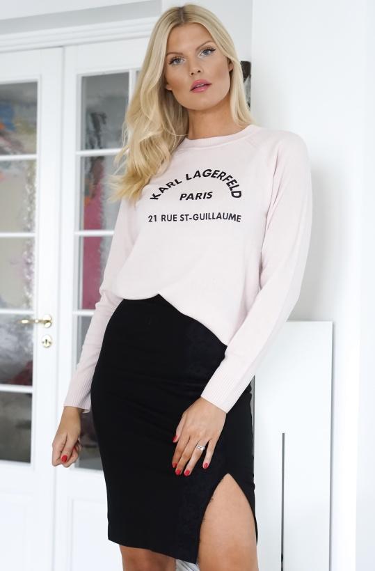 KARL LAGERFELD - Logo Adress Sweater Pink