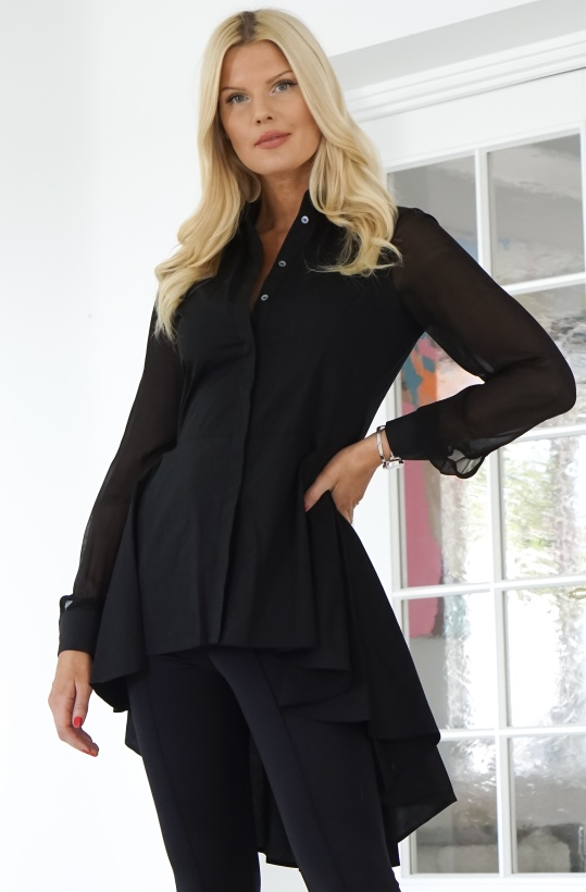 KARL LAGERFELD - Poplin Tunic with Peplum