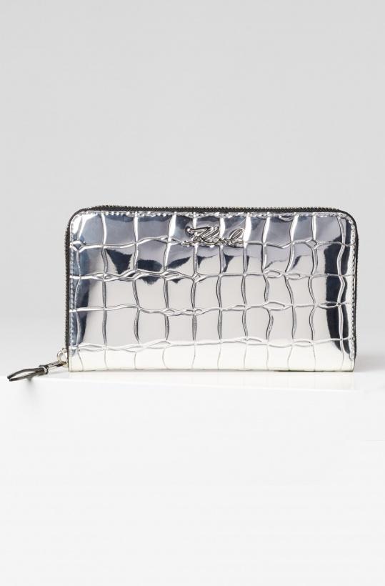 KARL LAGERFELD - Signature Zip Wallet