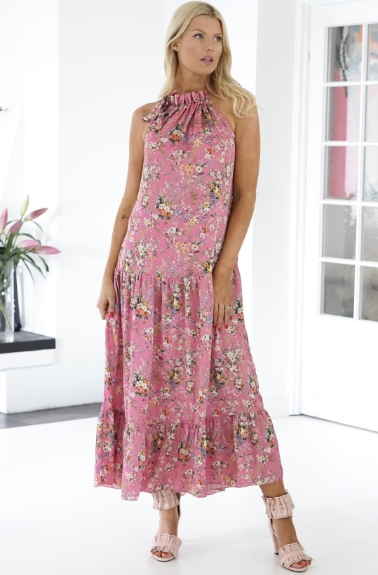 KARMAMIA - Siloh Dress Pink Bloom