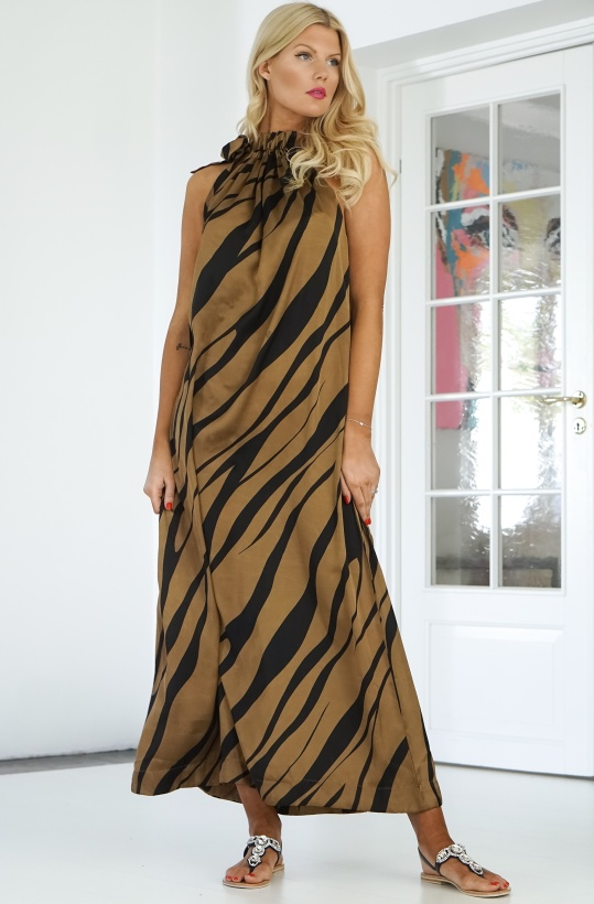 KARMAMIA - Simone Dress Gold Tiger
