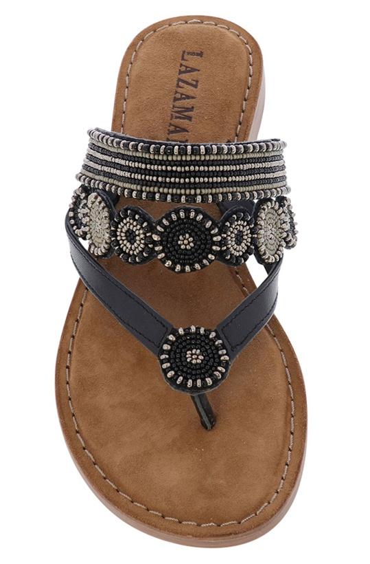 LAZAMANI - Slipper Beads Black