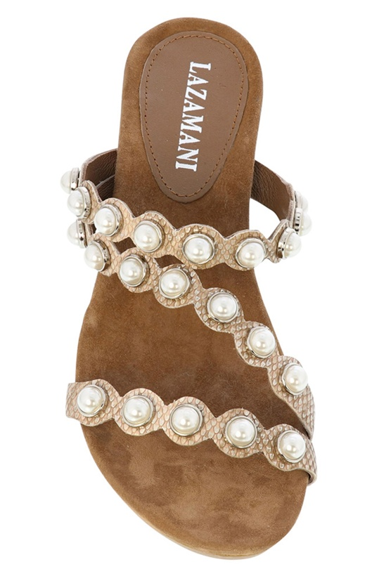 LAZAMANI - Wedge Pearls Beige