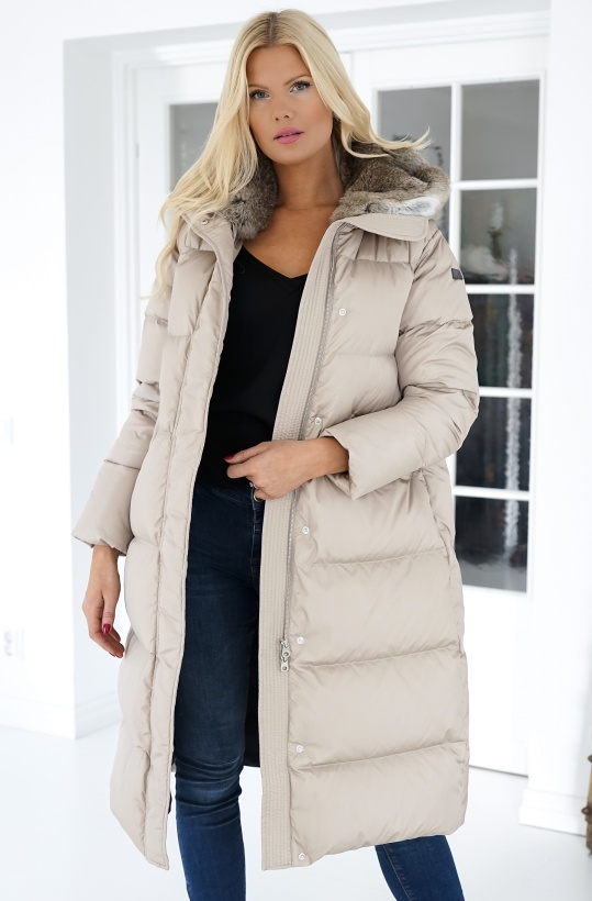 LEMPELIUS - Beige Coat Long
