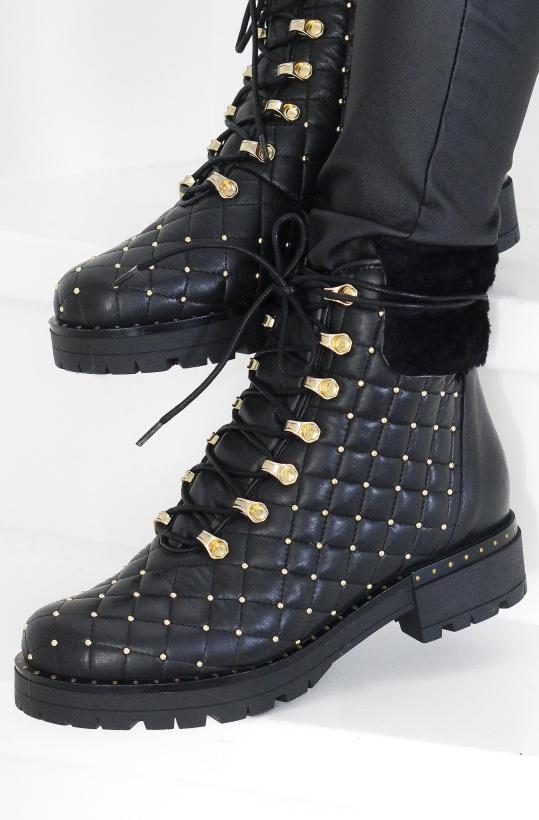 LESTROSA - Quiltade boots med Nitar F25