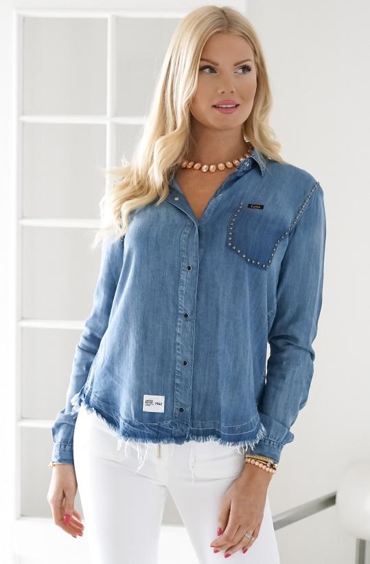 Lois - Freya Rivet Denim Summer Shirt