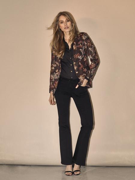 MOS MOSH - Victoria Silk Flare Jeans Black