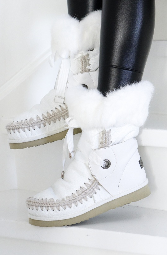 MOU - Eskimo Lace & Fur Boot