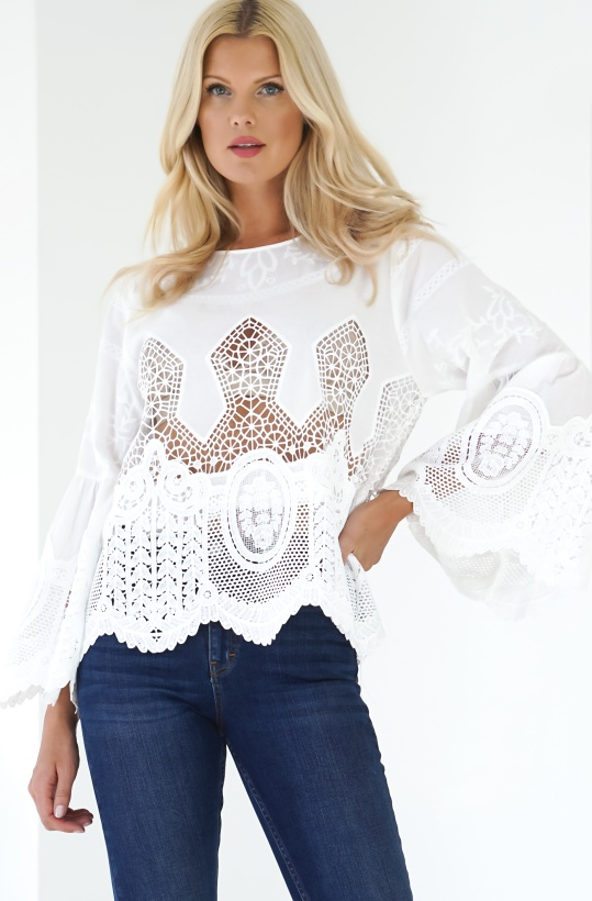 MOLLY BRACKEN - Bohemian Lace Blouse