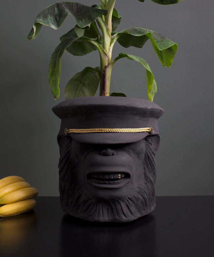 GARDEN GLORY - Monkey Face Pot  Big