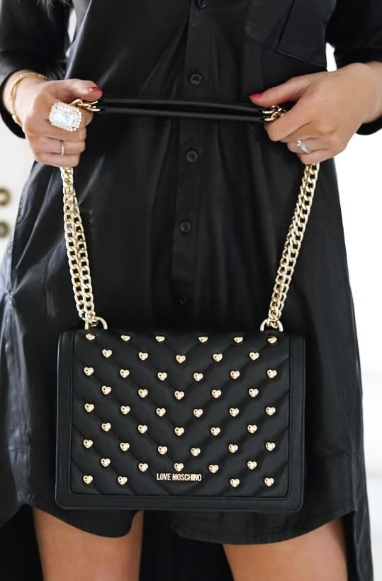 LOVE MOSCHINO - Heart Studded Handbag