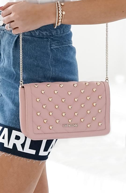 LOVE MOSCHINO - Smaller Heartstudded Handbag