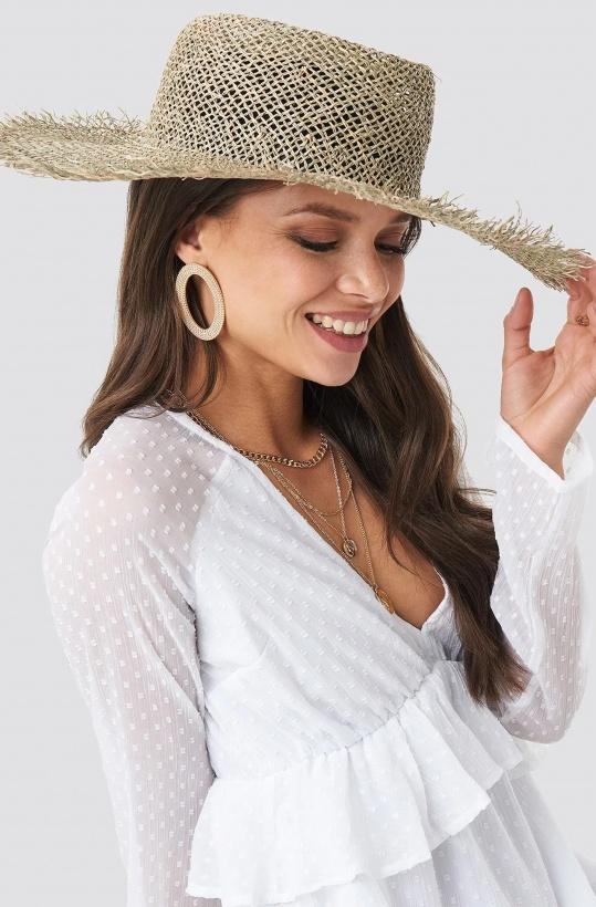 NA-KD - Big Raw Edge Straw Hat
